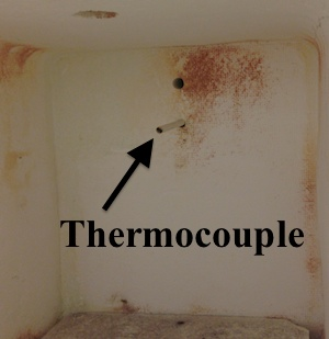 Muffle furnace thermocouple