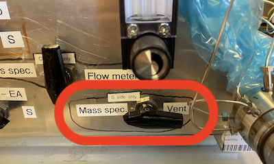 mass spec or vent valve
